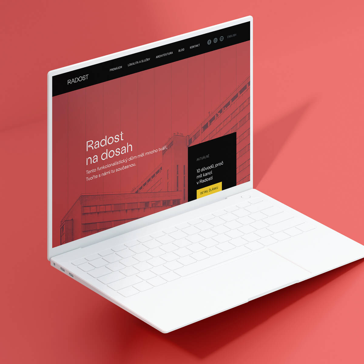Ukázka webových stránek Domu Radost