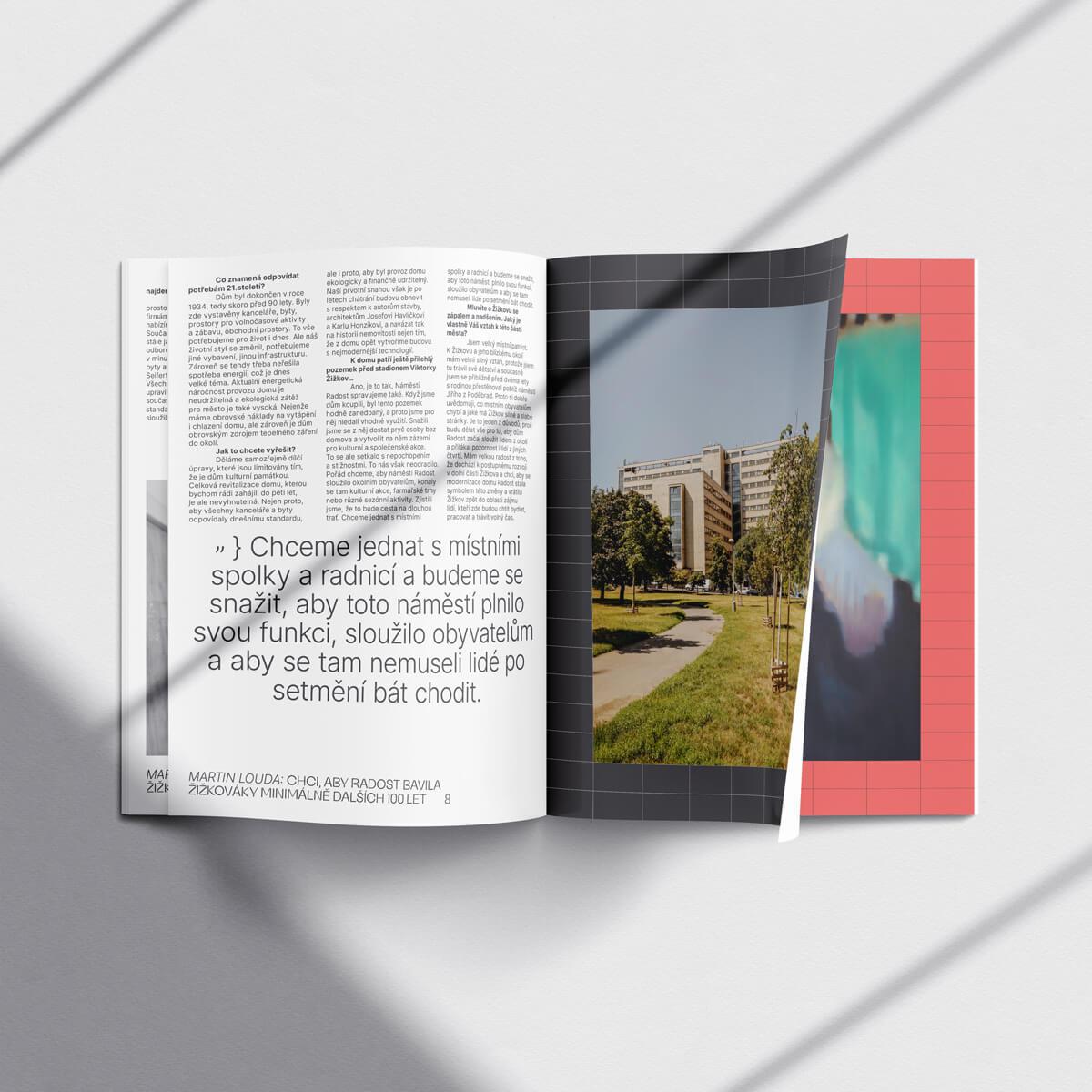Vnitřní stránky magazínu Domu Radost