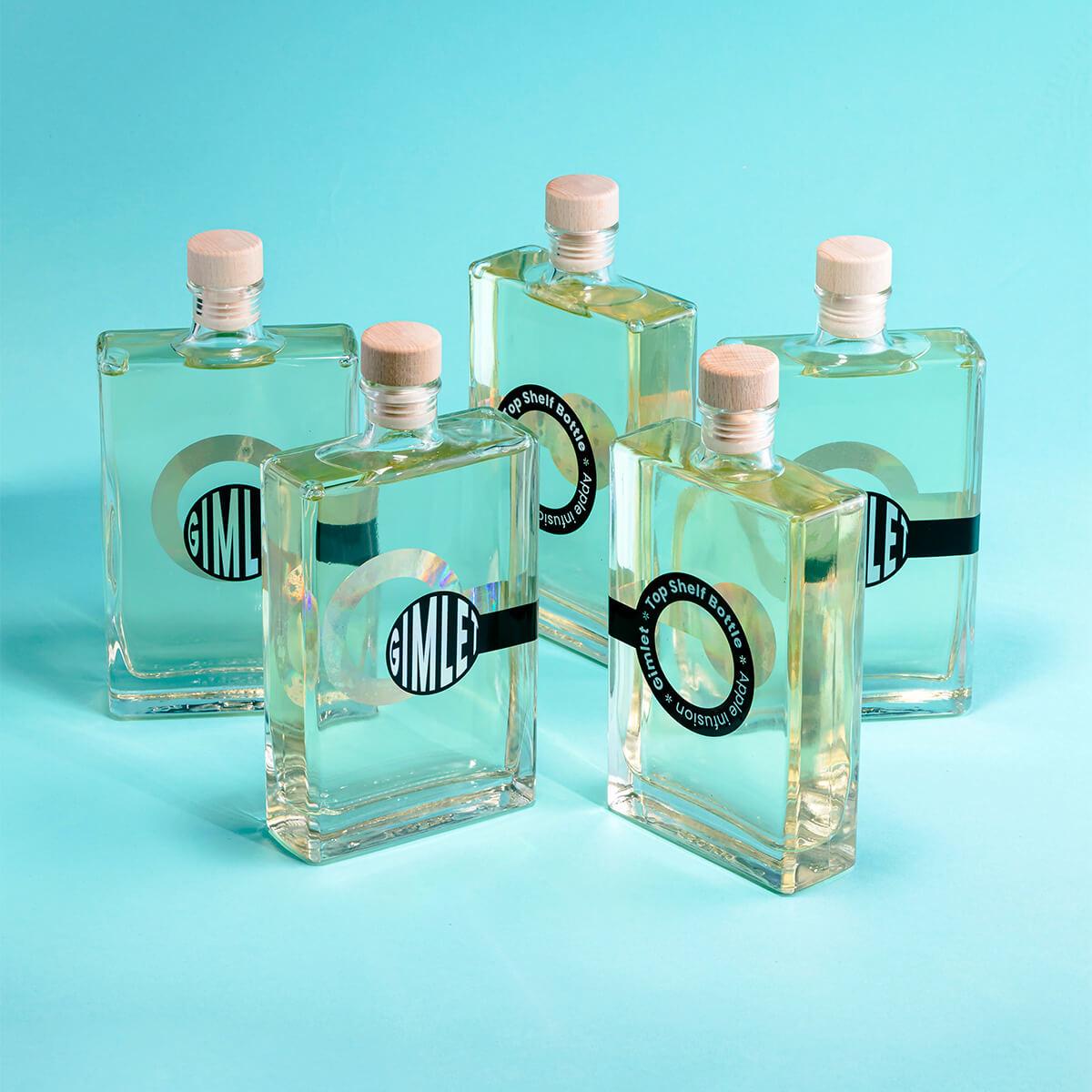 Fotografie koktejlů v lahvích