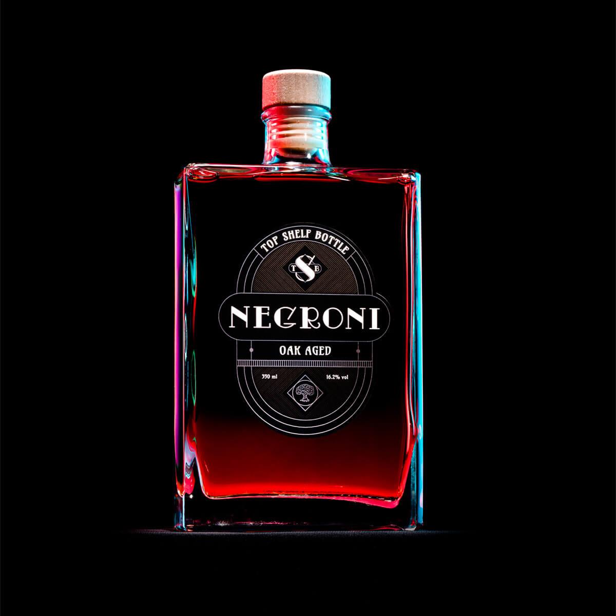 Lahev negroni s designovou etiketou