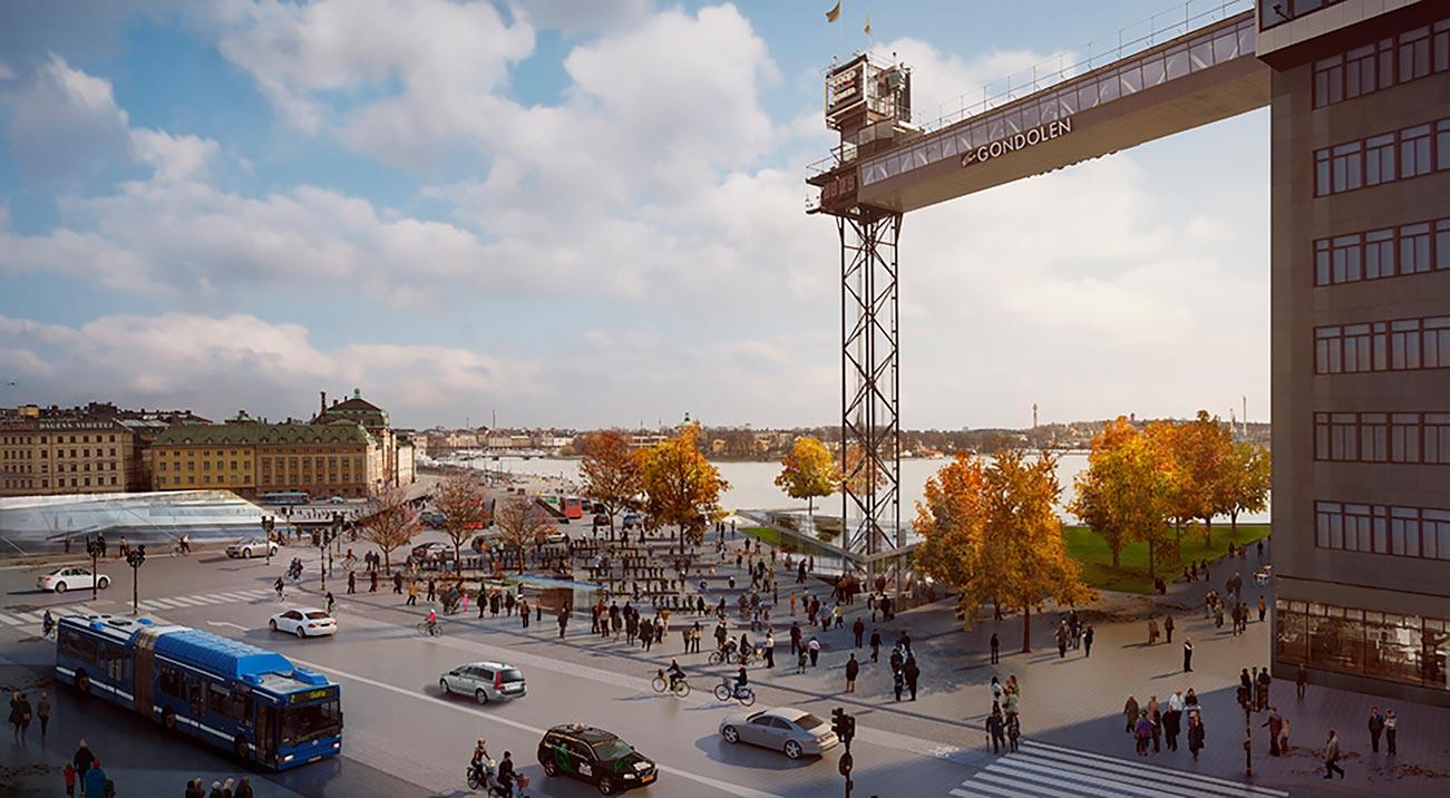 Bild på Slussen, Stockholm
