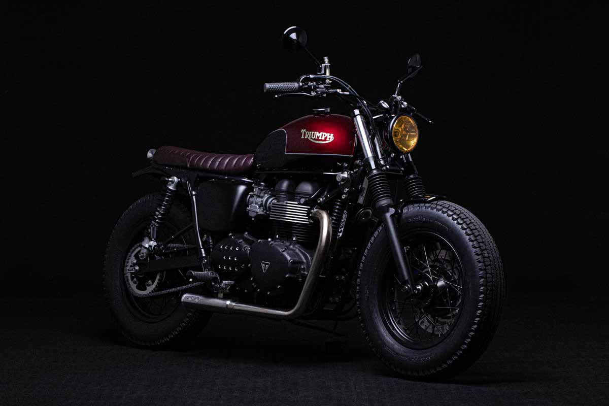 "Bonneville T100 FCR ""Red & Black"""