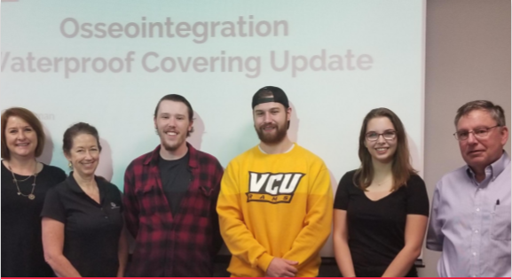 VIRGINIA COMMONWEALTH UNIVERSITY: WATERPROOF OSSEOINTEGRATION COVERS