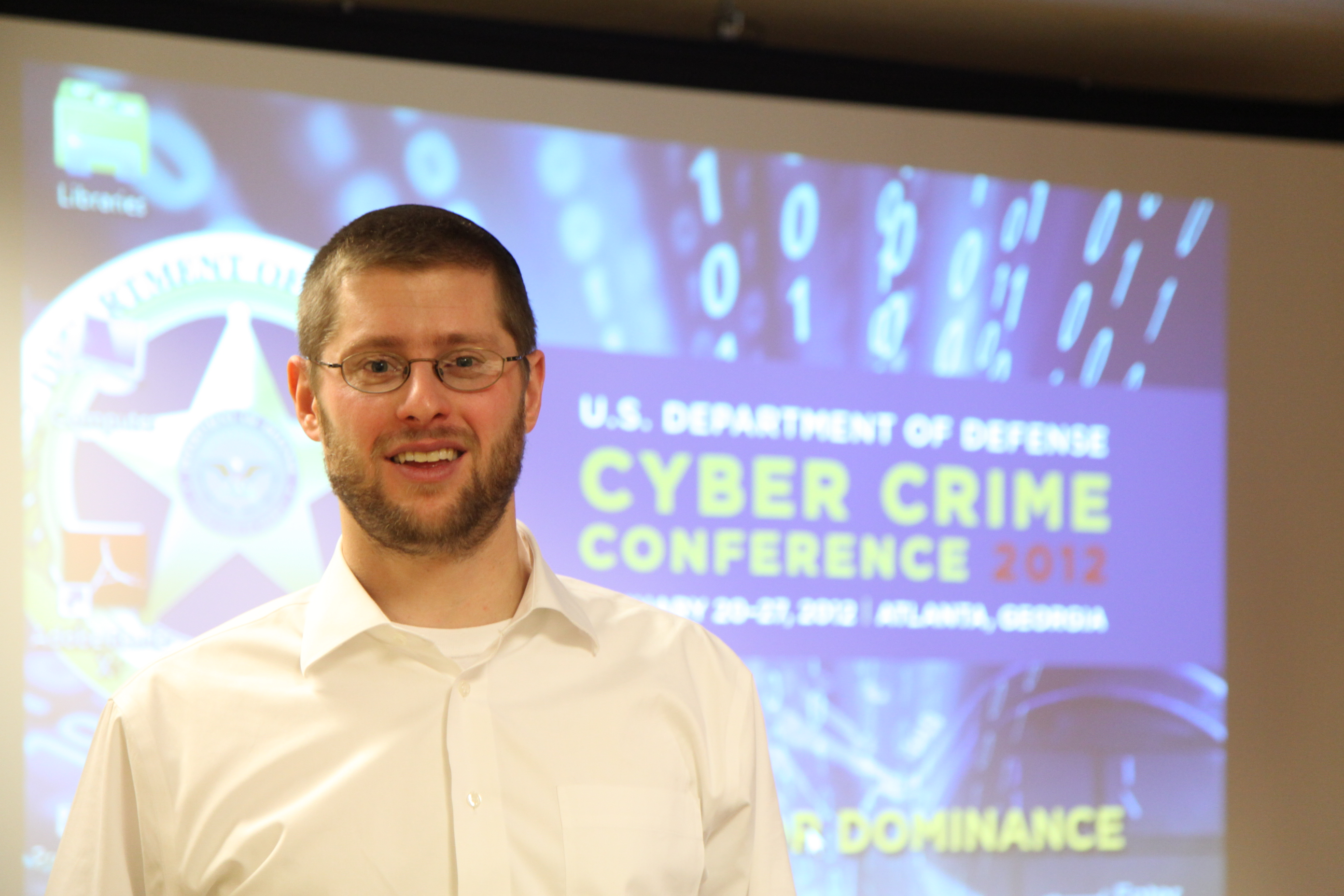 Photo of Jonathan Grier, QL+ Board Member at CybCrime Conference.