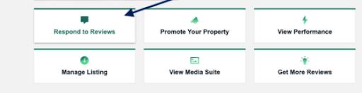 A screenshot of TripAdvisor's business profile menu