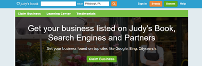 A screenshot of claim your business page on Judy's Book