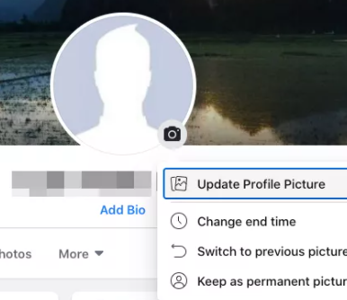 A screenshot of Facebook's edit profile section