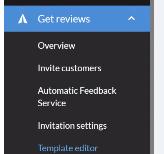 A screenshot of the Get Reviews menu on Trustpilot