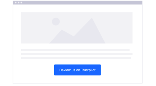 The skeleton layout of a Trustpilot business page