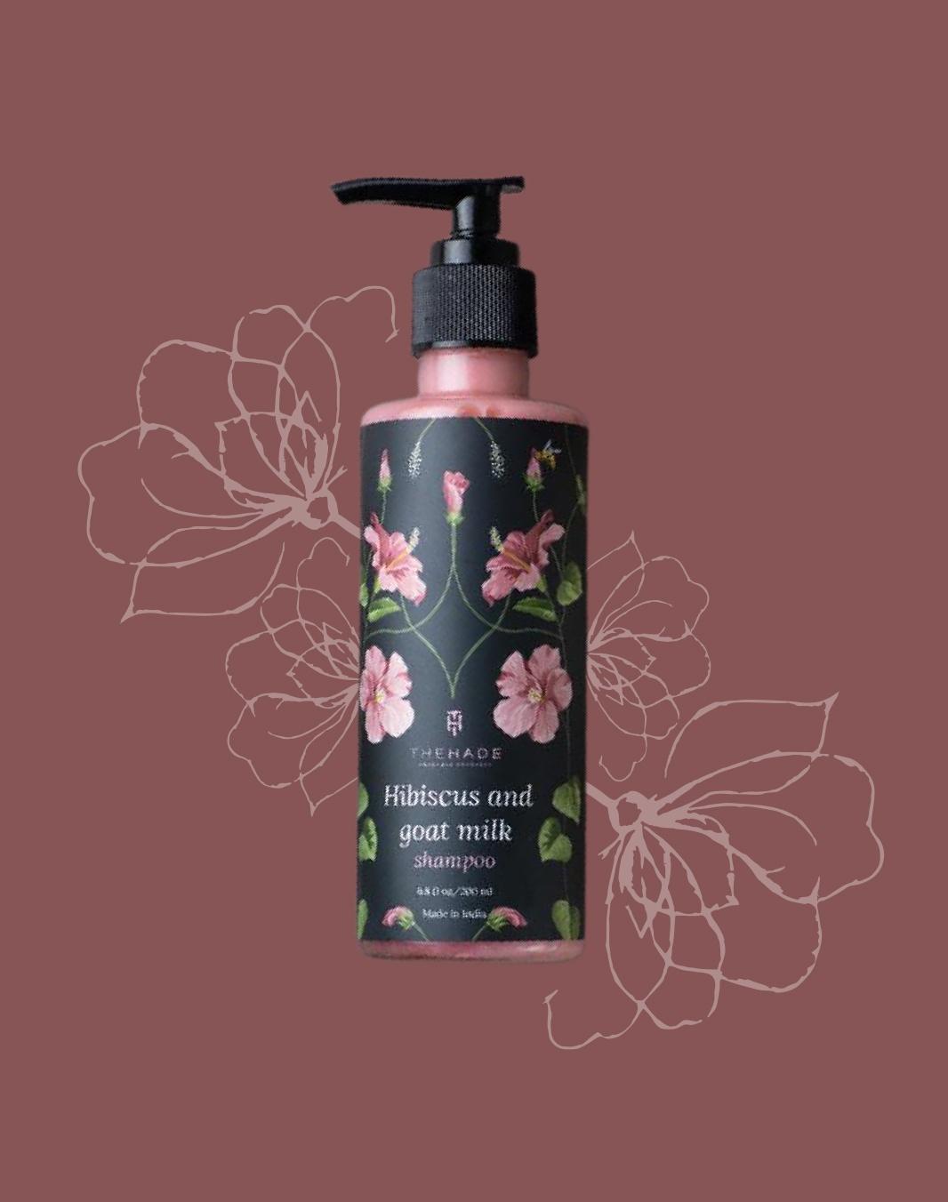 Hibiscus and Goat Milk Shampoo