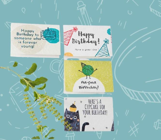 Plantable Birthday Cards