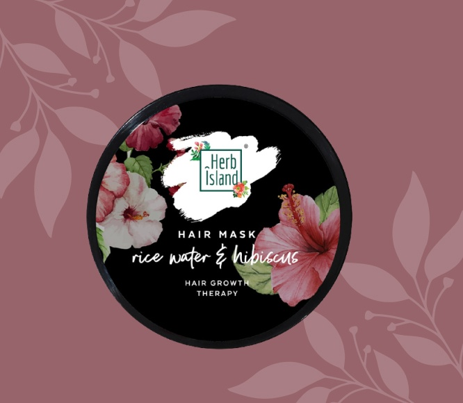 Rice water and Hibiscus infusion hair mask