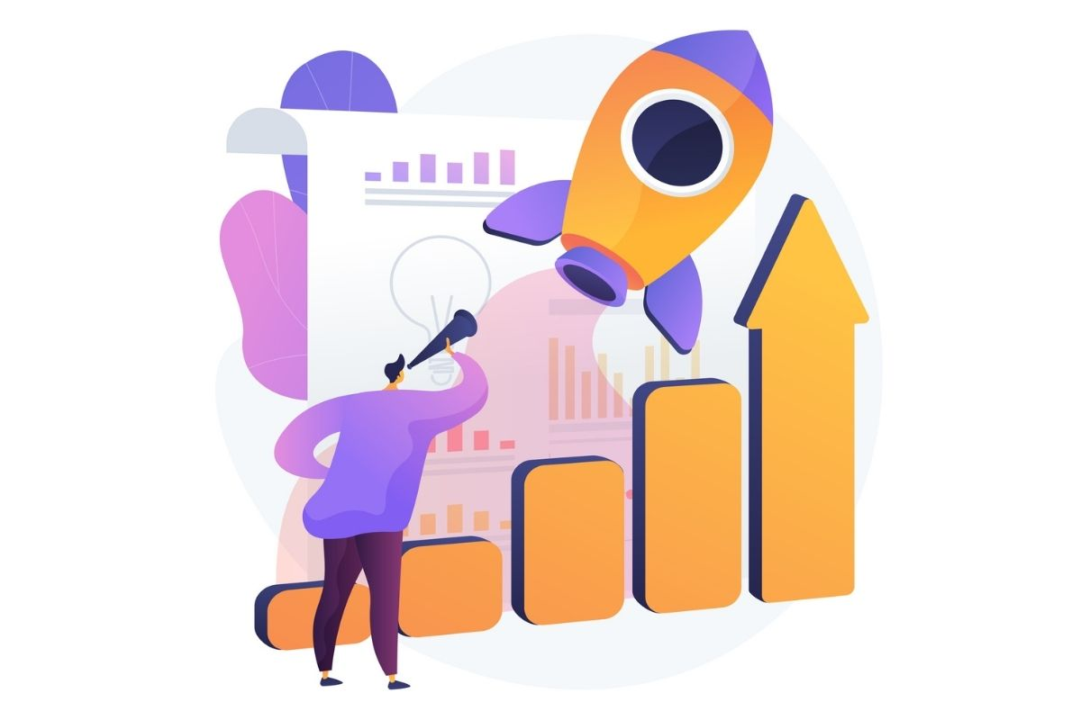 Grow with influencer marketing illustration
