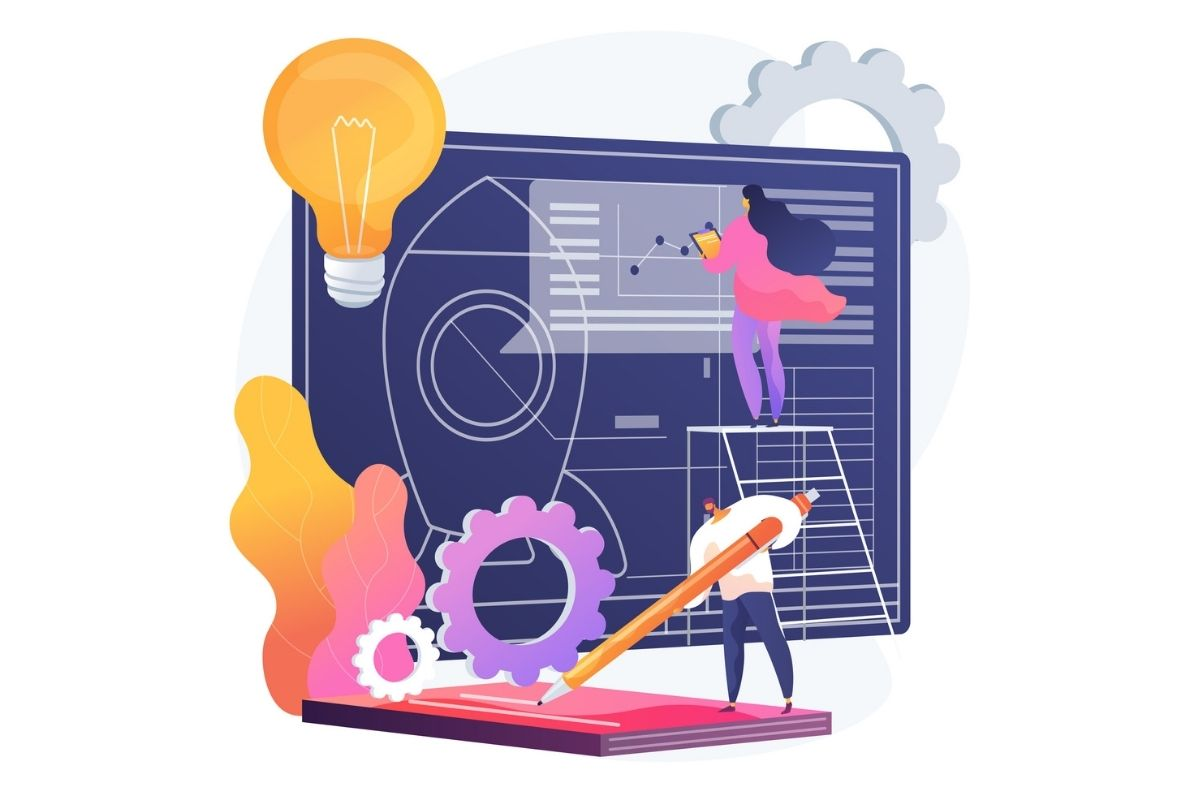 Illustration of web optimization for growth