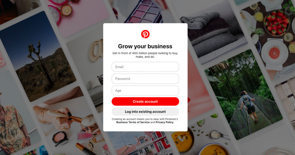 Pinterest Guide For Beginners - How to create a Pinterest business account