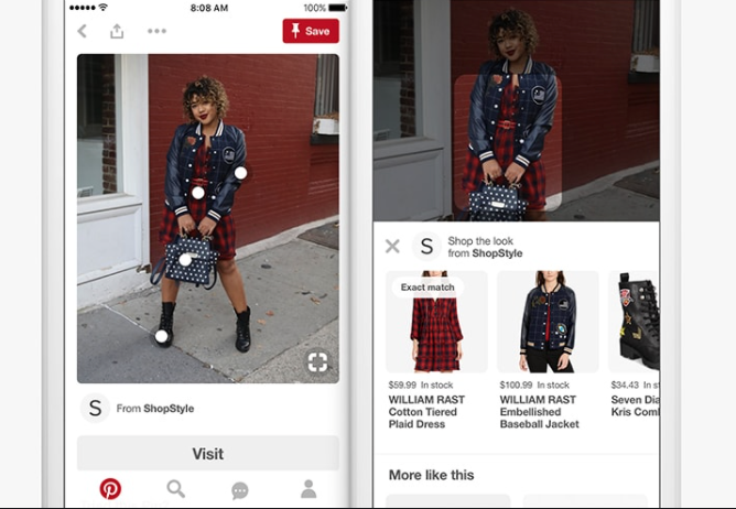 Pinterest shop the look example