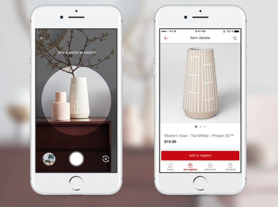 Pinterest visual search example