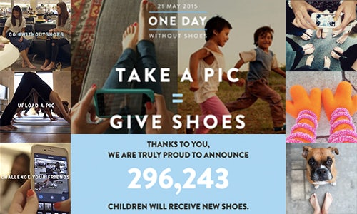 One day without shoes campaign