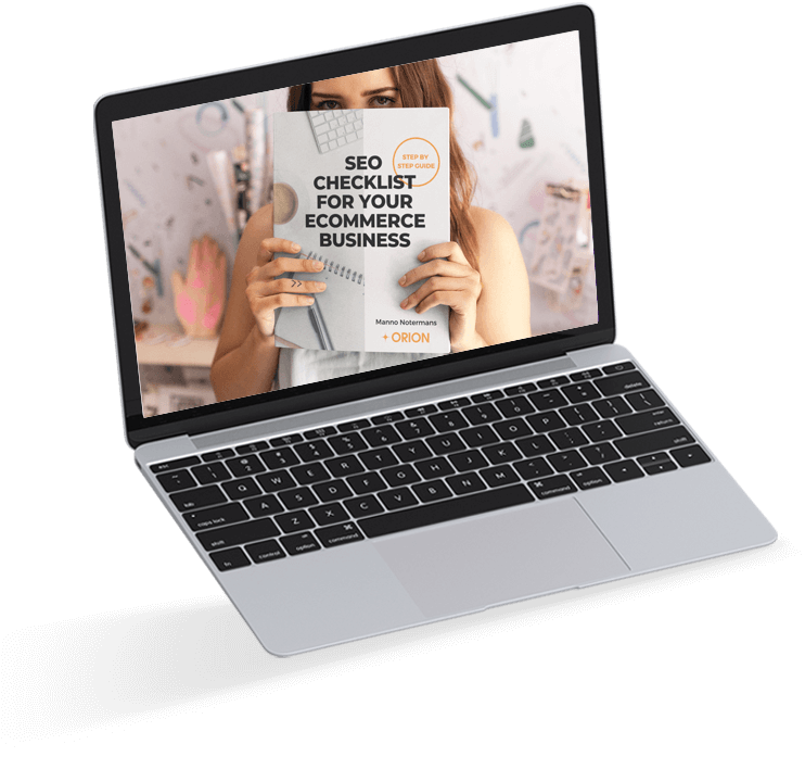 Female holding an SEO Checklist for eCommerce