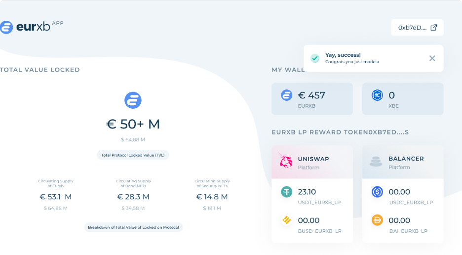 Getting started with app.EURxb.finance!