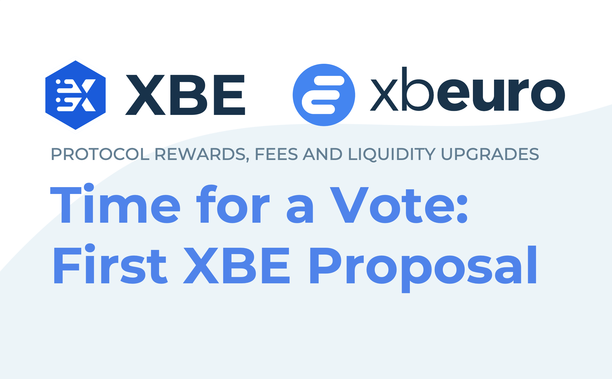 First XBE Proposal: Time to Vote