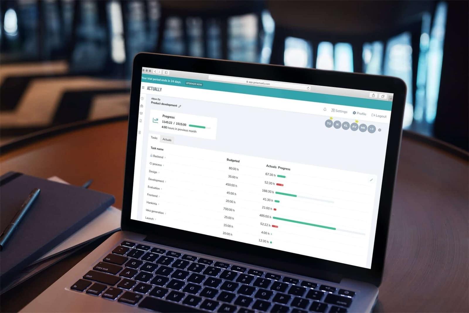 Actually Time Tracking Desktop App