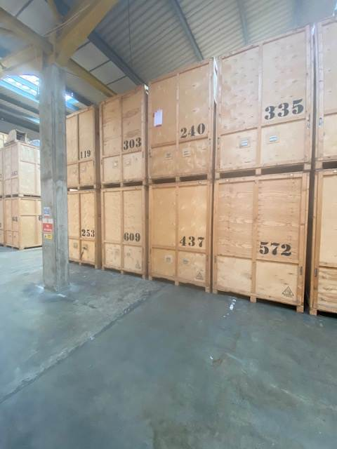 A1 Removals & Storage container cratesin warehouse