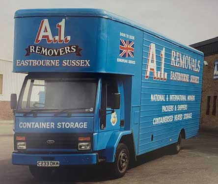 Original A1 Removals van from 30 years ago