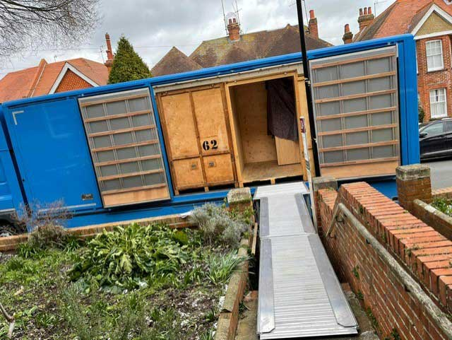 A1 Removals & Storage removals truck with it's loading boards extended