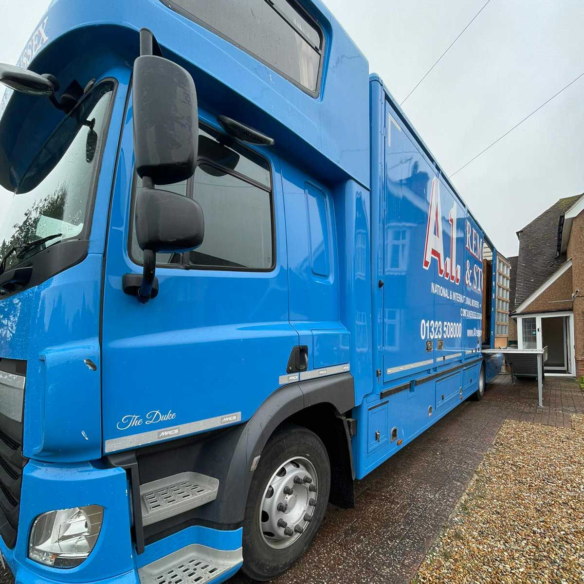 A1 Removals & Storage Truck parked ready to load
