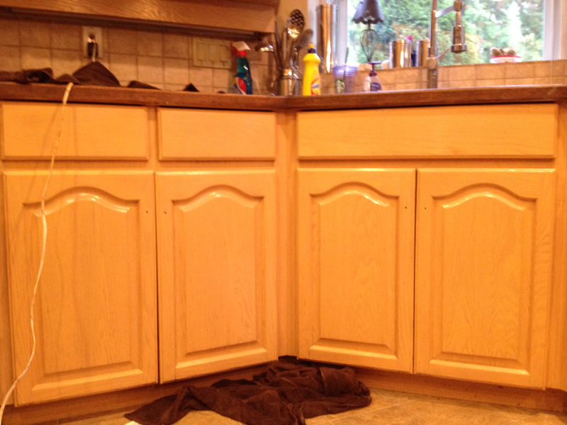 Cabinet refinishing after
