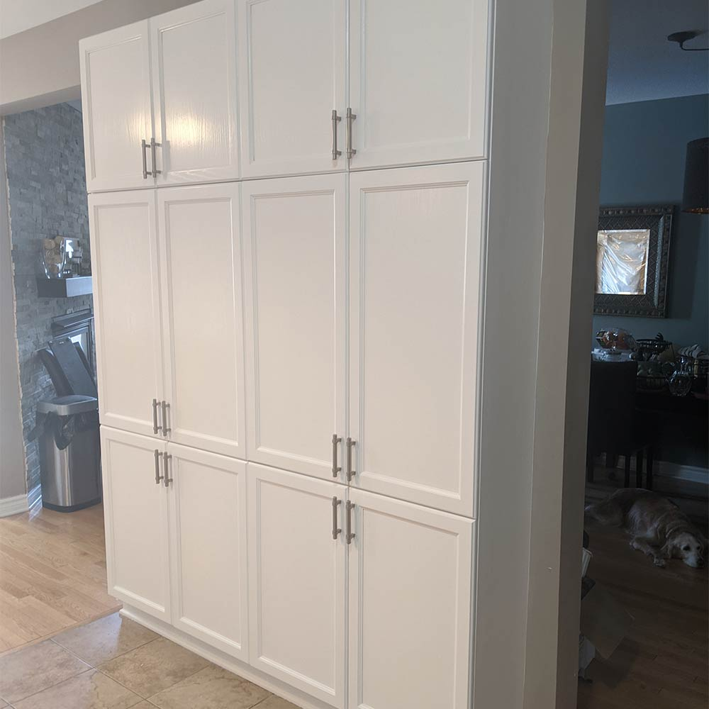 Cabinets after being painted