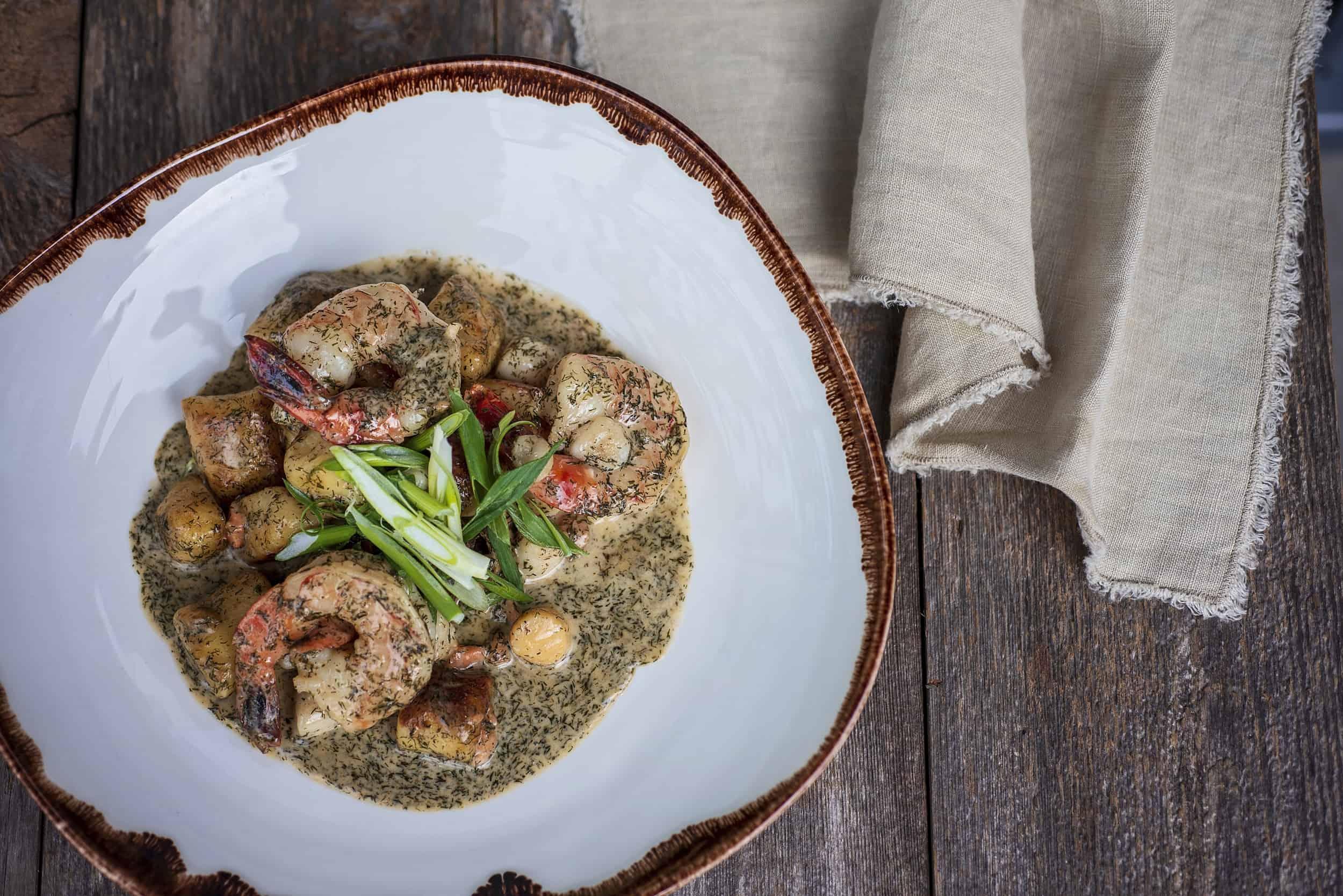 Qualicum Beach Cafe Seafood Gnocchi