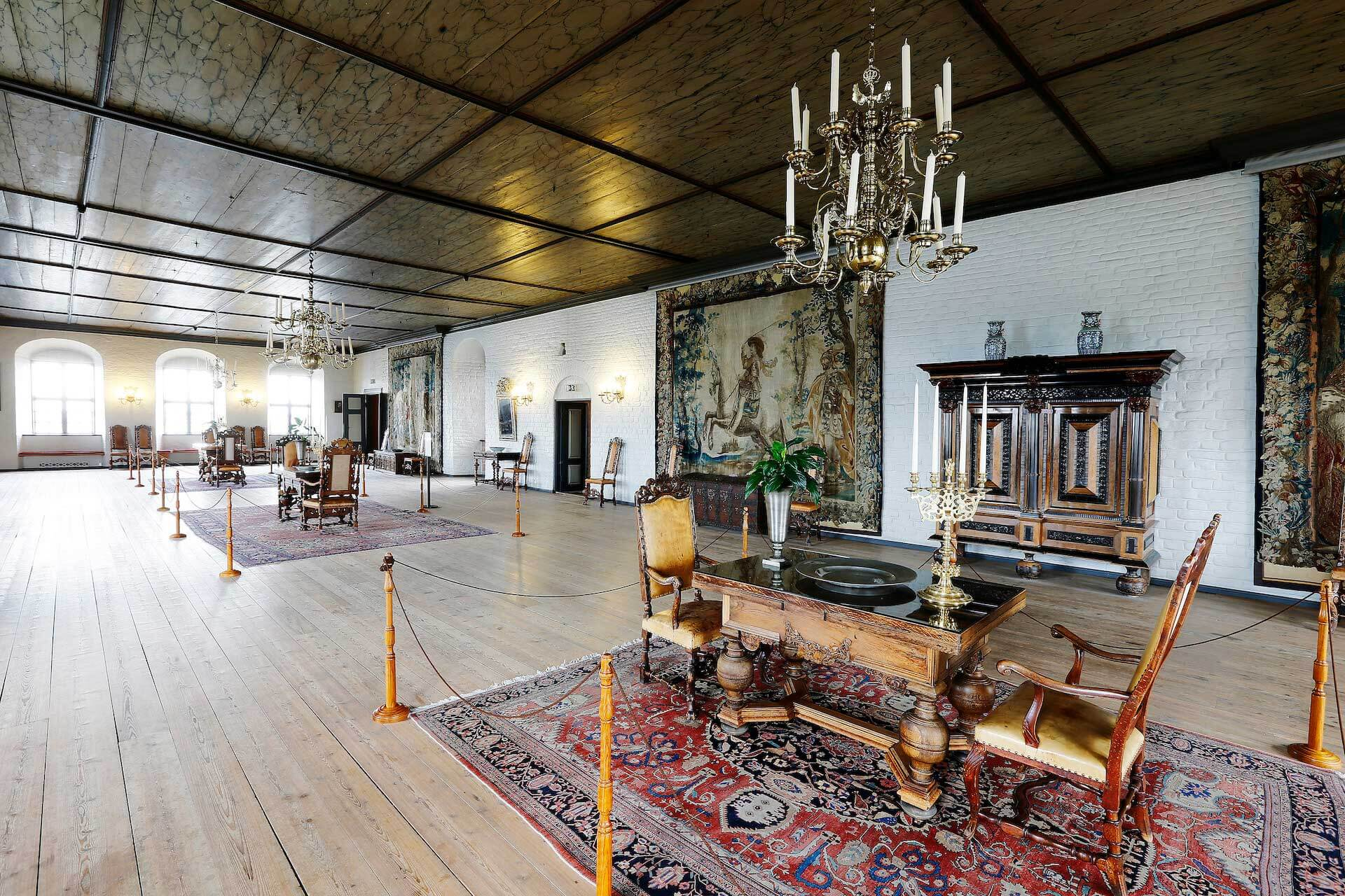Christian IV`s sal på Akershus slott i Oslo.