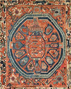 Billedvev med Christian  IV våpen
