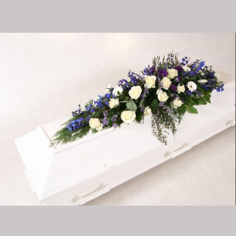 Kistedekorasjon A006. Blomster etter årstiden