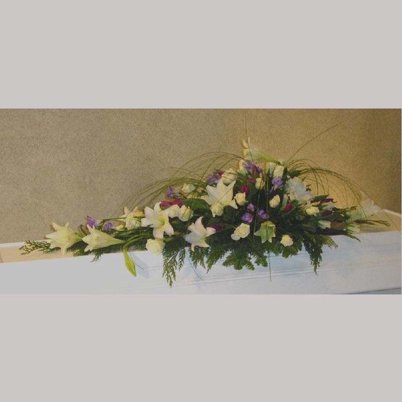 Kistedekorasjon A013 Blomster etter årstiden