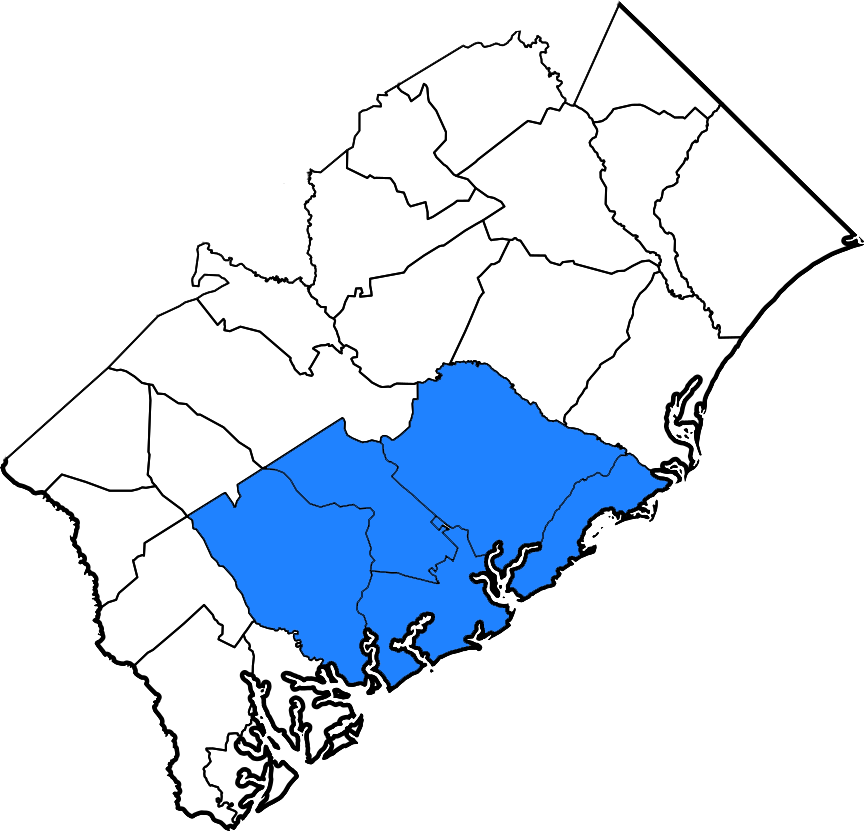 SC counties map