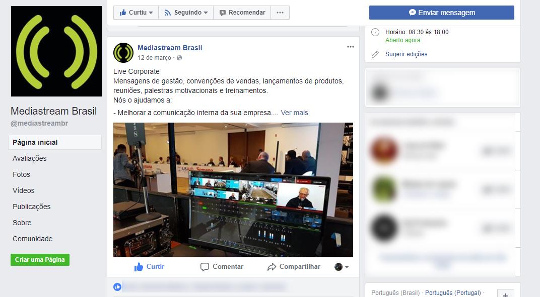 Mediastream Brasil Facebook
