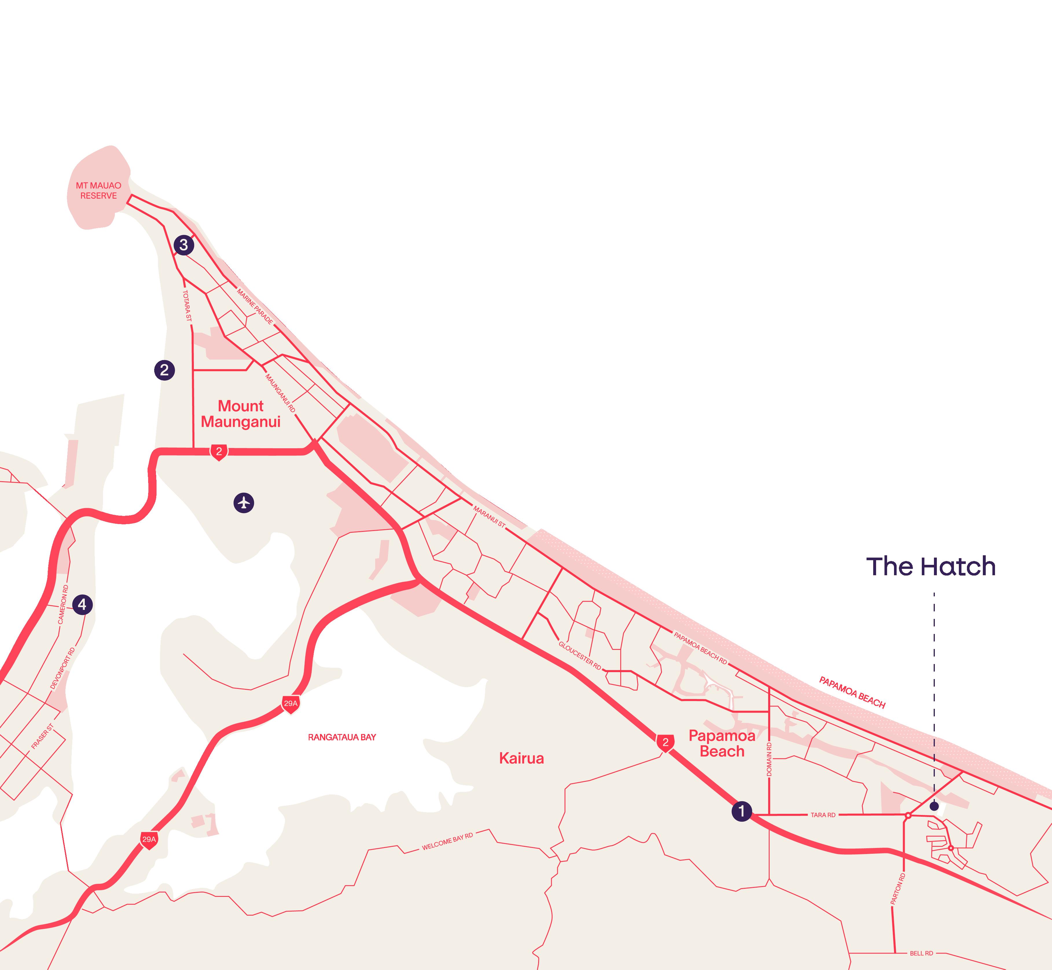Papamoa Map