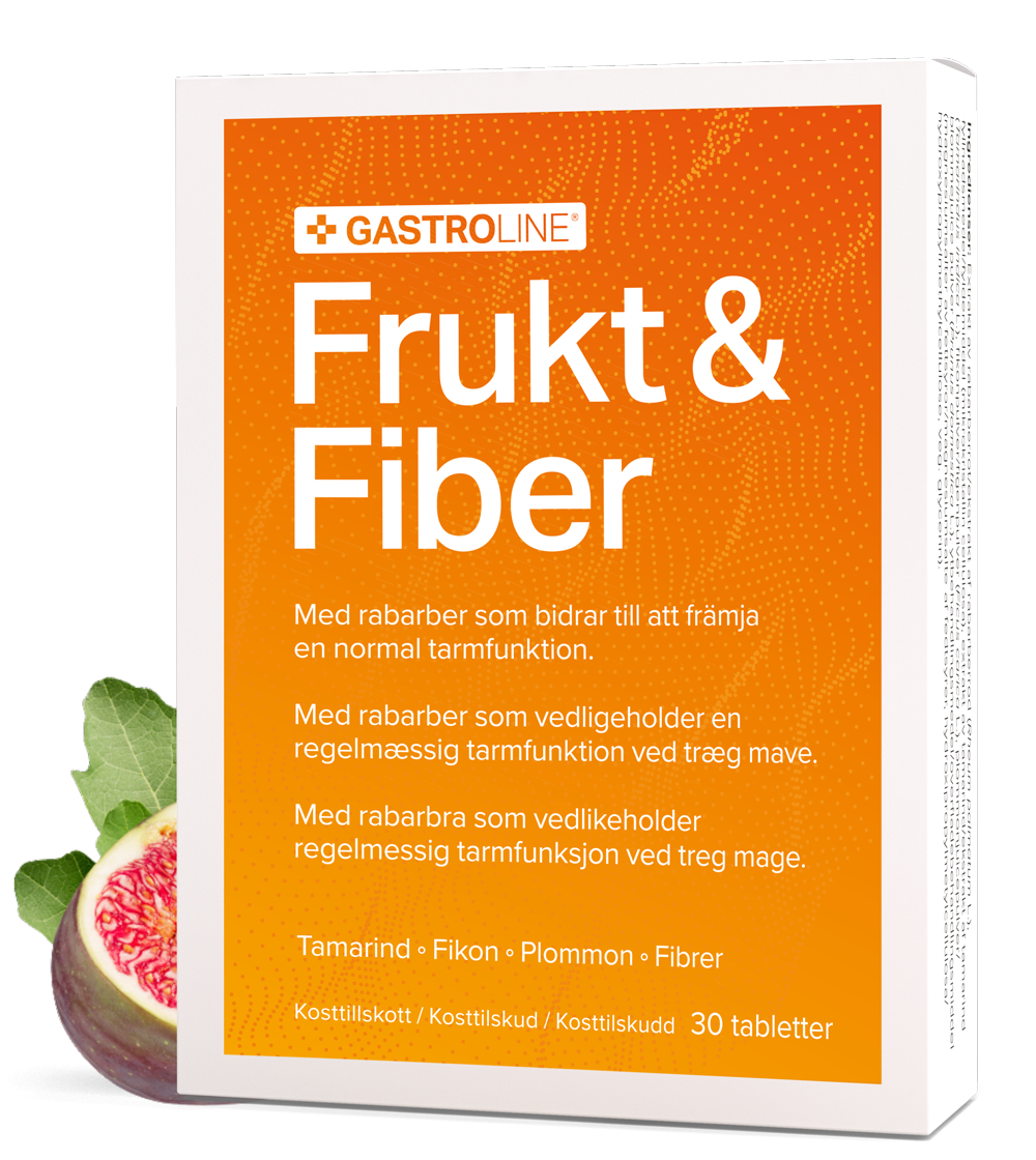Gastroline Frukt & Fiber tabletter förpackning