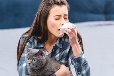 Pet allergies are very common.