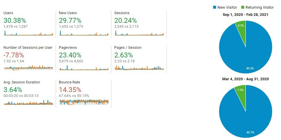 Audience Overview Stats