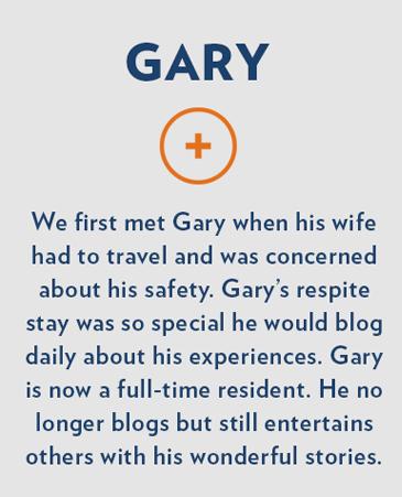 Gary, Bethesda Gardens Respite Care, Fort Worth
