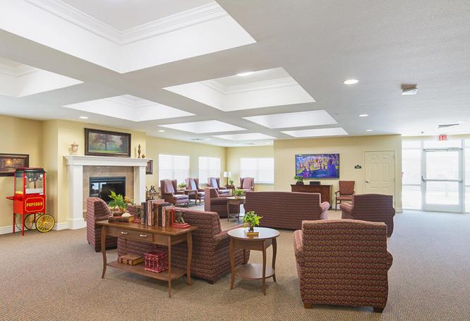 Bethesda Gardens Senior Living Sitting Room, Fort Worth
