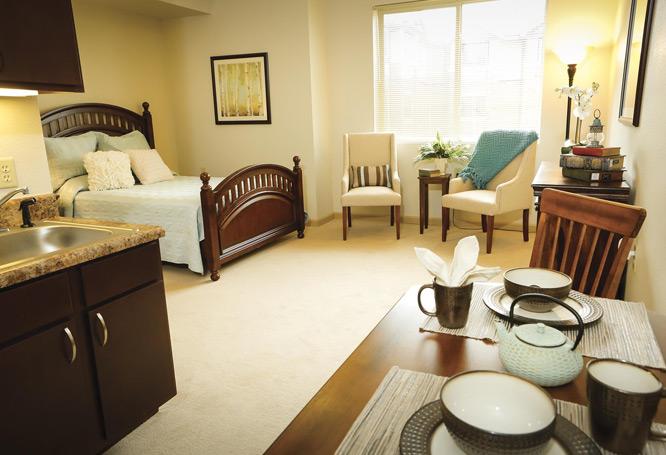 Bethesda Gardens Senior Living Bedroom, Fort Worth