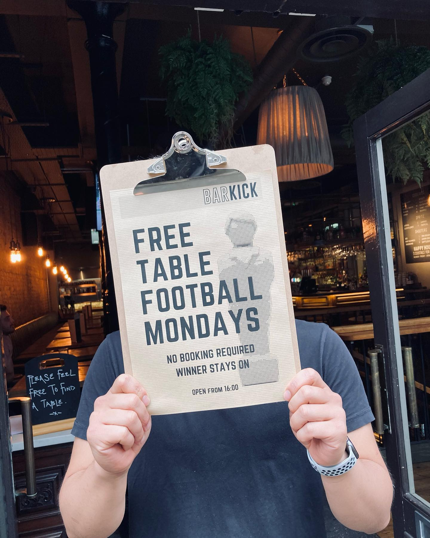 TABLE FOOTBALL ENTHUSIASTS! We're back open 7 days a week!  . And to celebrate we're unlocking our 3 table football tables into free play mode all night! ⚽️We're going to have them front and centre in our basement bar, & it's winner stays on, dog eat dog kind of world. No bookings being taken, just pop in for a game. #NoSpinning 😘 x . . . . #barkick #barkicklondon #shoreditch #foosball #tablefootball #football #pubgames #competition #winnerstayson #craftbeer #smashburgers #cocktails #eaatlondon #london