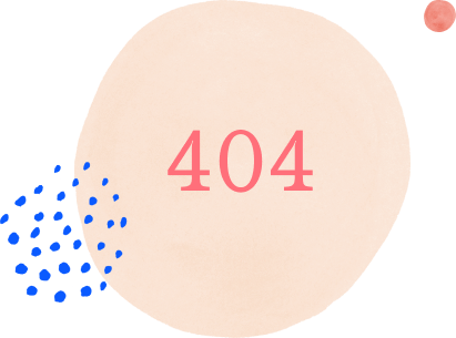 Painted circle with the text 404 displayed in the middle
