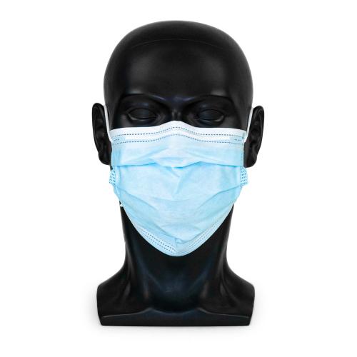 """Typ IIR medizinische Maske in der Farbe """"medical-blue"""" in frontaler Ansicht"""