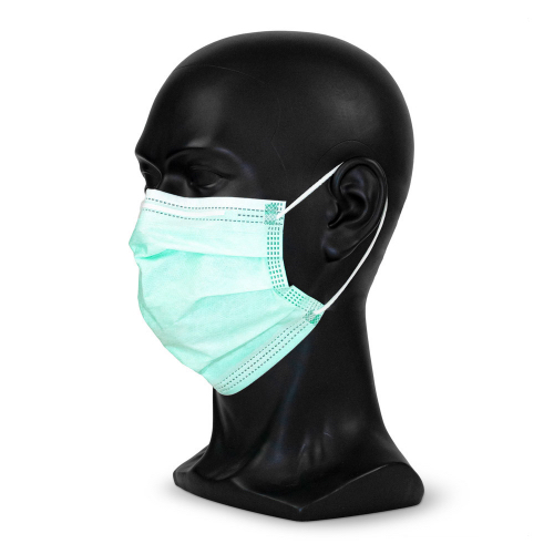 """Typ IIR medizinische Maske in der Farbe """"medical-green"""" in seiten Ansicht"""